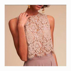 Jenny Yoo Lace Top Sleeveless Crop Mauve Size XS